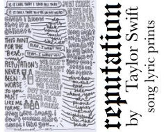 Delicate typography print