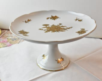 Rare Vintage Pedestal Cake Stand, 9 inches
