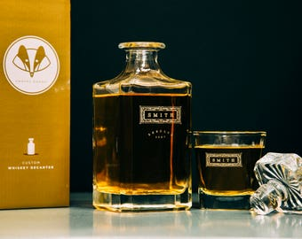 Groomsmen Gift – Personalized Whiskey Decanter Set–A Personalized Gift, great for Groomsmen Gifts, Wedding Gift