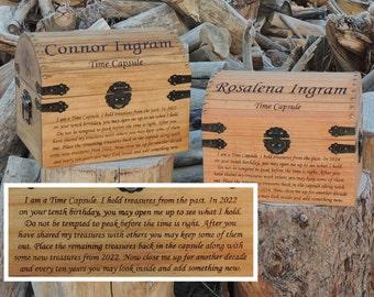 Time Capsule / Keepsake Box Wood Burned Custom Pyrography