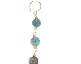Tres turquoise earring