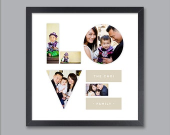 Custom Family Art Print, Love Print, Holiday Gift, Personalized Family Art, Home Decor