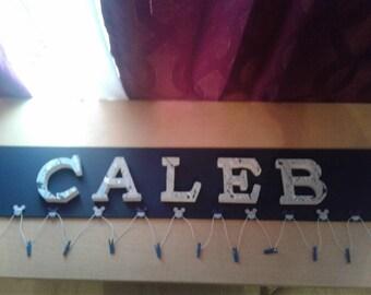 Children's  Personalized name,picture,scrapbook board