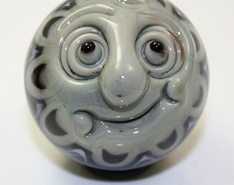 "Man in the Moon-Dala Marble in Steel Grey  1 1/2""  Brad Pearson SRA"