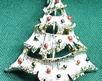 Christmas, Xmas Tree Brooch by Gerrys