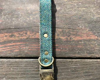 Solid Teal Tweed