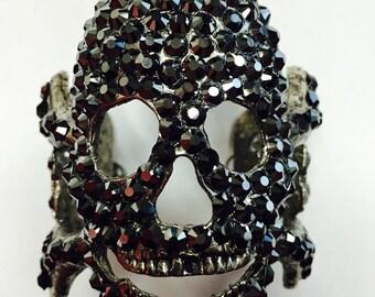 Hematite Skull cuff