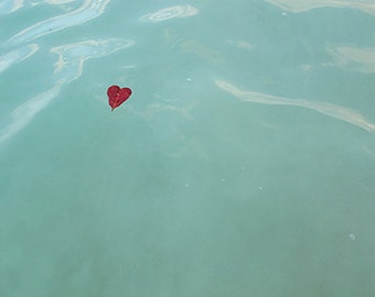 Any 11x14 fine art print - gift idea home kitchen nursery art red love aqua heart