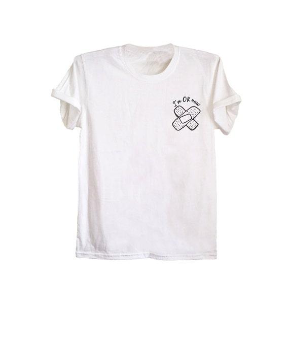 Süße Tasche t Band Hilfe Shirt Siebdruck t Shirt unisex