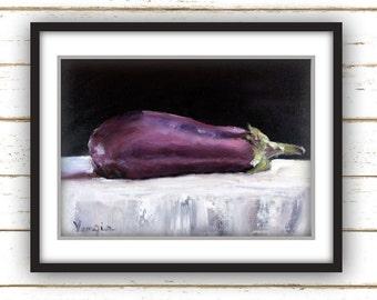 Eggplant - Art Print - Large Wall Art