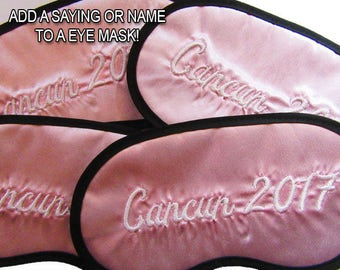 Custom Made Embroidered Eye Mask - favorite on pinterest tumblr instagram polyvore