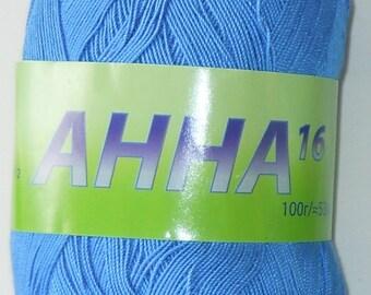 Crochet thread size 10, mercerized cotton, ANNA, 100g/ 579 yds #335 lt.blue