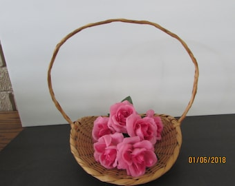 flower girl vintage gathering basket
