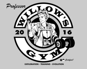 Professor Willow's Pogo Gym - Men's Unisex T-Shirt - AR Pokemon Gaming Parody Clothing