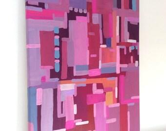 "Acrylic on canvas ""Manhattan City Lights ll"" 60 x 40 cm Modern Art modern style acrylic original abstract painting on canvas"