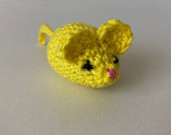 Crochet mouse, yellow mouse, stuffed mouse, amigurumi mouse, soft toy, crochet animal, little mouse, cute mouse, toy mouse