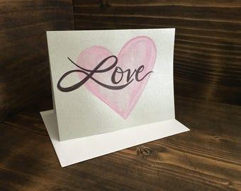 Handmade Valentine Card, blank inside