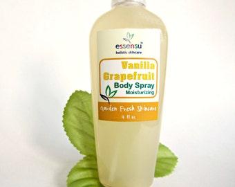 Vanilla Grapefruit Moisturizing Perfume Natural Body Spray | Safe Non-Toxic Fragrance | Hair Perfume | No Phthalates | Vegan - 4 oz