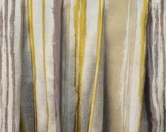 Chartreuse Stripes Curtain Drapes Custom Curtain Panels Window Curtains  Valance Bedroom Curtains Window Treatment Door Curtains