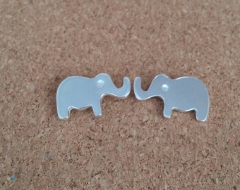 Elephant Earrings, Elephant jewelry, Animal earrings, Stud earrings, Elephants, Elephant charm, Silver stud earrings, Elephant gifts