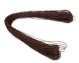 2 m in coffee waxed cord 1 mm