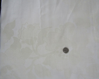 3.5 yards off white damask fabric 54 inch wide