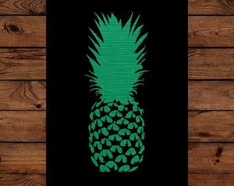 Papercut Pineapple Greeting Card