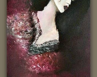Spanish Decor-Original Fine Art-Spanish Dancer-Spanish Art-European Art-Unique Oil Painting-Unique Wall Art