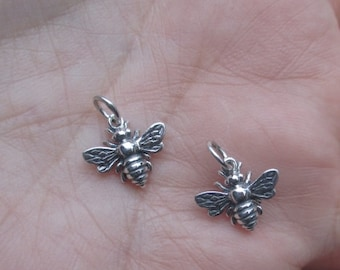 Sterling Silver Honey Bee Charm(one,two or three bee's)