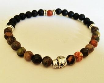 one yoga bracelet boy beads Beads Bracelet skull bracelet men