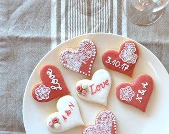 Royal Iced Vanilla Cookie - Wedding Lace Range