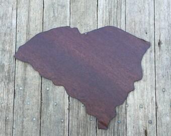 state of South Carolina, South Carolina wall hanging, rustic tin state of South Carolina, South Carolina,