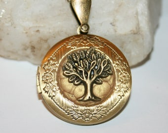 Tree of life picture with color old gold (p)