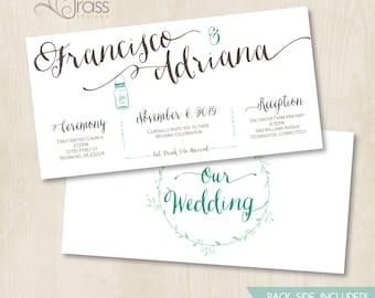 Custom Bridal Shower, Wedding Invitation by BluGrass Designs - Rustic Mason Jar