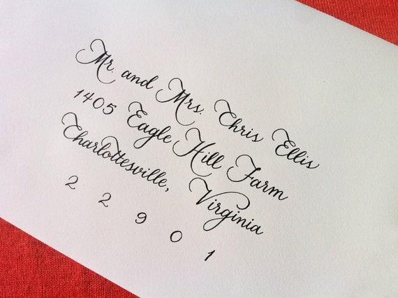 custom wedding invitation calligraphy megan
