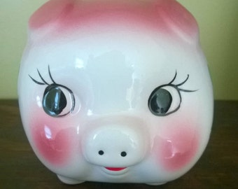 Porcelain Piggy Bank 1950s-1960s