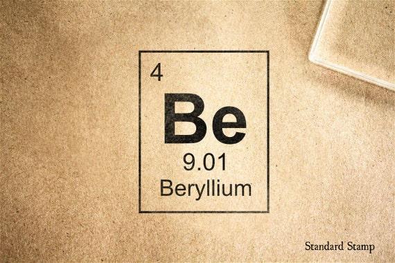sello de goma berilio tabla peridica 2 x 2 pulgadas - Tabla Periodica Berilio