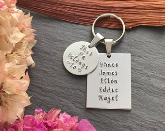Personalised Grandfather Gift - Personalised Keyring for Dad - Gift for Dad - Christmas Gift for Him - Personalised Keyring for Grandad