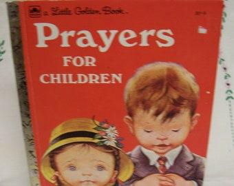 Eloise Wilkin, Golden Book, Prayers for Children, Circa 1974, Vintage, Children's Prayer Book, Delightful Illustrations by Eloise Wilkin