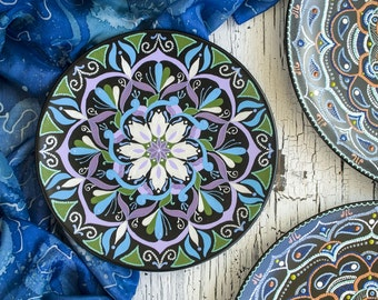 SALE -15% Hand painted mandala plate - Decorative ... & Decorative plates | Etsy