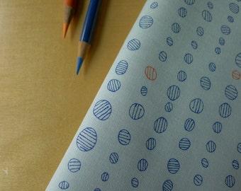 Doe Droplet Circles in Sky Blue Dots AFR-15030-63 Carolyn Friedlander for Robert Kaufman - Half Yard - Modern Quilting Sewing Cotton Fabric