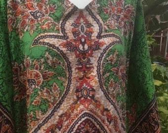Vintage, Dashiki, Maxi Dress,