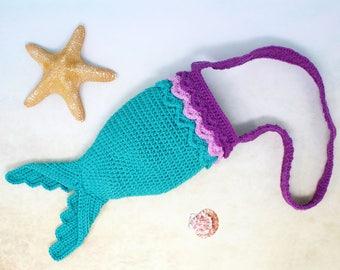 Girls Mermaid Bag - Mermaid Tail Bag -  Little Girls Bag
