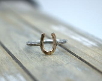 Horseshoe Ring - Sterling silver - Gold Filled - Midi Ring - Gift for Her