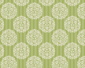 Tilda Apple Bloom Flower Ball Olive (Half metre)