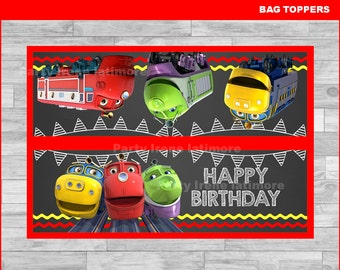 Chuggington bags toppers Instant download, Chuggington Chalkboard toppers, Chuggington party bags toppers