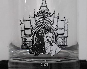 Black and White Csa highball glass