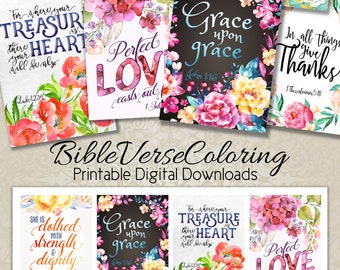 """Bible Verses TAGS Scripture Art No.1  size 2.5""""x3.5"""" hang tags digital collage sheet greeting cards Printable download"""