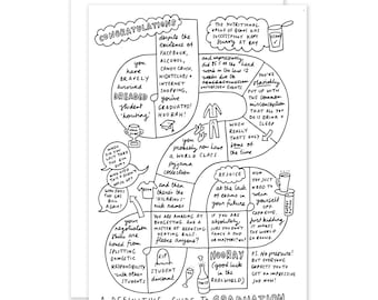 A Definitive Guide To Graduation Funny Sarcastic Illustrated Graduation Card