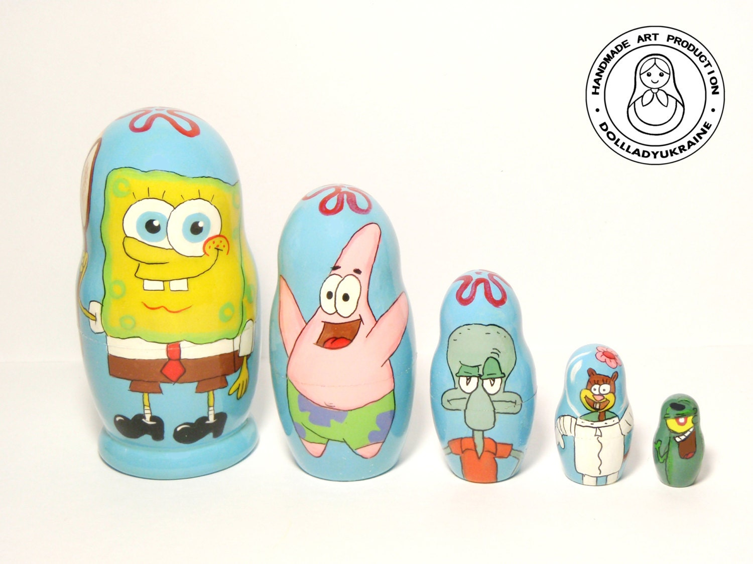 Nesting dolls SpongeBob-SquarePants Matryoshka Doll 5pcs 11